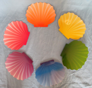 seashell invitations with pearls inside for mermaid themed birthday parties