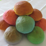 Rainbow buns for a colorful birthday party